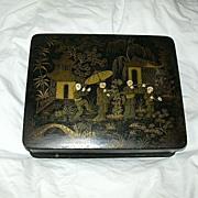 Papier Mache Oriental Design Box