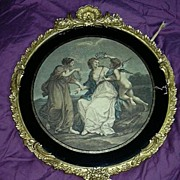 Old Engraving Beauty By Angelica Kauffman Fine Gilt Ornate Frame