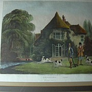 SALE Thomas Sutherland Colored Engraving Shooting Series Going Out R Ackermann's Framed Huntin