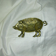 Heavy  Brass Pig Pin Tray