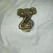 Old Brass English Swans Door Knocker