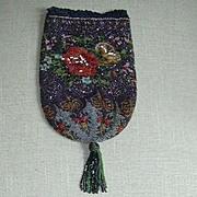Fine Beaded Weaving Needlework Bag