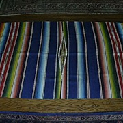 Old Mexican Serape Blanket Large Textile