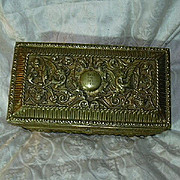 Heavy Decorative Brass Jewelry Casket