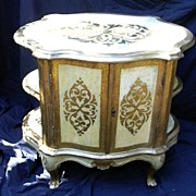 SOLD Italian Florentine Gilt  Painted Cabinet  Furniture From Italy