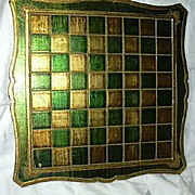 Italian Florentine Checkerboard Chess Game Board Table Top