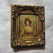 Framed Germany Celluloid Miniature