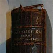 Nouveau Paroissien Romain Tres Complet Antique French & Latin Priest's Prayer Book Leather 188