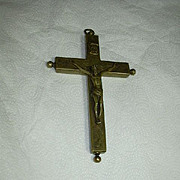 Old Large Reliquary Crucifix