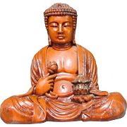 Large Seated Buddha Statue