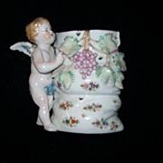 Cherub Angel Figurine Vase Hal-sey Fifth Vintage Japan Porcelain Art