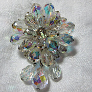 Aurora Borealis Style Crystal Brooch
