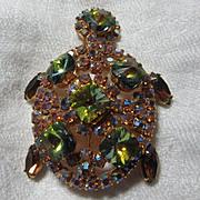 Jeweled Turtle Pin