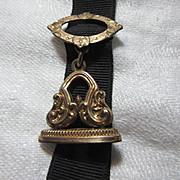 Victorian Watch Fob On Ribbon