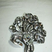 SOLD Eisenberg Original Sterling Rhinestone Clip Brooch Signed Jewelry