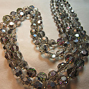 Sparkly Silver Crystal Beads Necklace