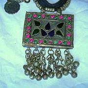 Middle Eastern Pakistani Huge Jeweled Necklace Belt  Pendants Hanging