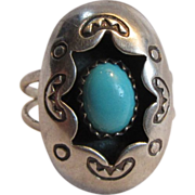 Native American Shadow Box Zuni Signed Ring