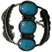 Native American Silver Turquoise Bracelet