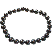 Majorica Faux Tahitian Pearls Choker Necklace 14mm Beads