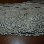 SALE PENDING Old Ivory White Lace With Black
