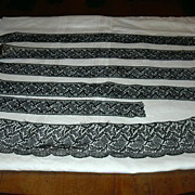 Old Black Heavy Lace Edgings