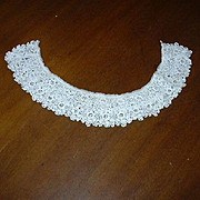 Old Crochet Tatted Needle Lace Collar