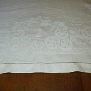 Old White Linen Huck Damask Towel Fine Linens