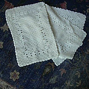 Set 6 Old Crochet Placemats Or Table Cloths