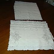 Set 4 Pure Linen Placemats & Napkins