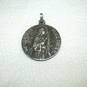 Old St Philomena Large French Medal Signed Penin Poncet