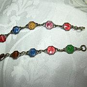 Eleven Enamel Catholic Medals Bracelet