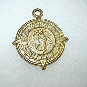 St Christopher Medal large With Compass Star Points