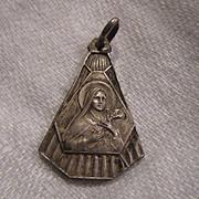 Old French St Teresa Lisieux Medal