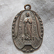 Virgin Mary Our Lady Of The Highway 1954 Medal & St Anthony