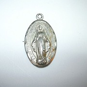 Sterling Silver Miraculous Medal Virgin Mary