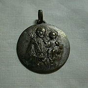 Large Old French  St Joseph Medal