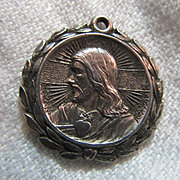 Jesus Sacred Heart Mary Our Lady Ornate Medal
