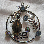 Mary Our Lady Medallion With Blue