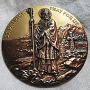Large St Patrick Medallion House Blessing Medal