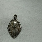 SOLD Virgin Mary Our Lady Lourdes Small French Medal