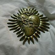 Large Sacred Heart Medallion Medal Plaque