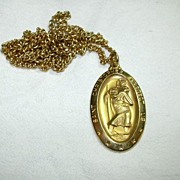 Gold Filled St Christopher Medal