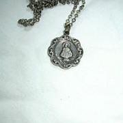 Jesus Infant Of Prague Old Medal