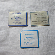 Set Paper Reliquary Virgin Mary Beauraing Apparition