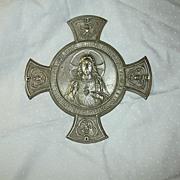 SOLD Jesus sacred Heart House Blessing Medallion