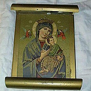 Virgin Mary Our Lady Perpetual Help & Infant Jesus Lighted Wall Art