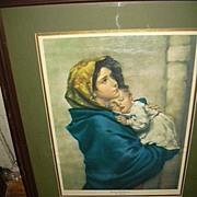 Ferruzzi Madonna Print Large Framed Religious Art Virgin Mary