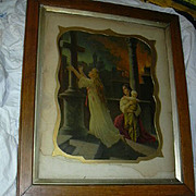 Old Religious Framed Print Thou Art My Strength
