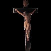 Large Wall Crucifix Cross Jesus Corpus Original Label